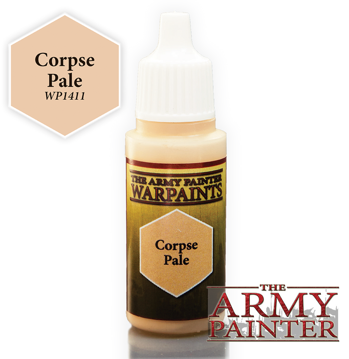 The Army Painter Acrylic Warpaints: Corpse Pale 18mL Eyedropper Paint Bottle