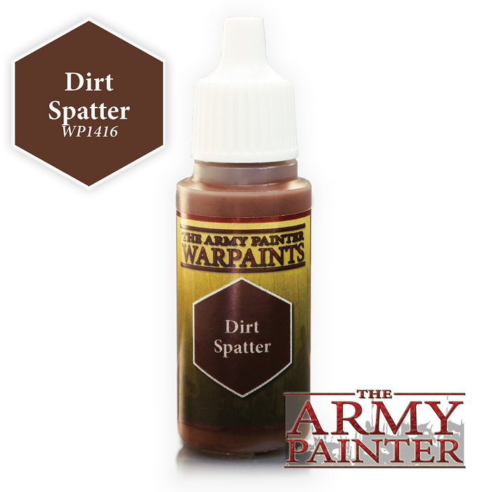 The Army Painter Acrylic Warpaints: Dirt Splatter 18mL Eyedropper Paint Bottle