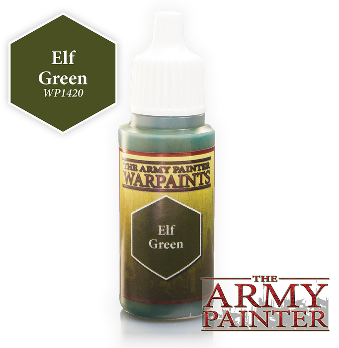 The Army Painter Acrylic Warpaints: Elf Green 18mL Eyedropper Paint Bottle