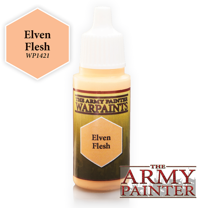 The Army Painter Acrylic Warpaints: Elven Flesh 18mL Eyedropper Paint Bottle