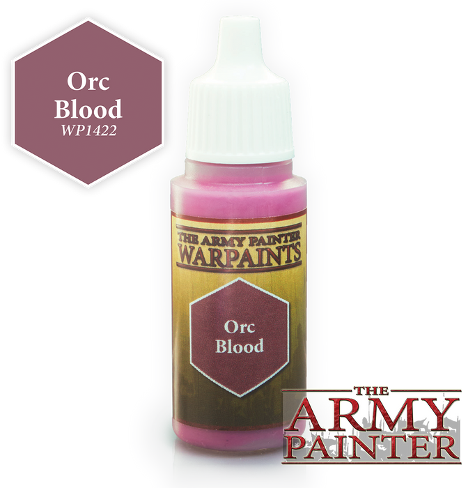 The Army Painter Acrylic Warpaints: Orc Blood 18mL Eyedropper Paint Bottle