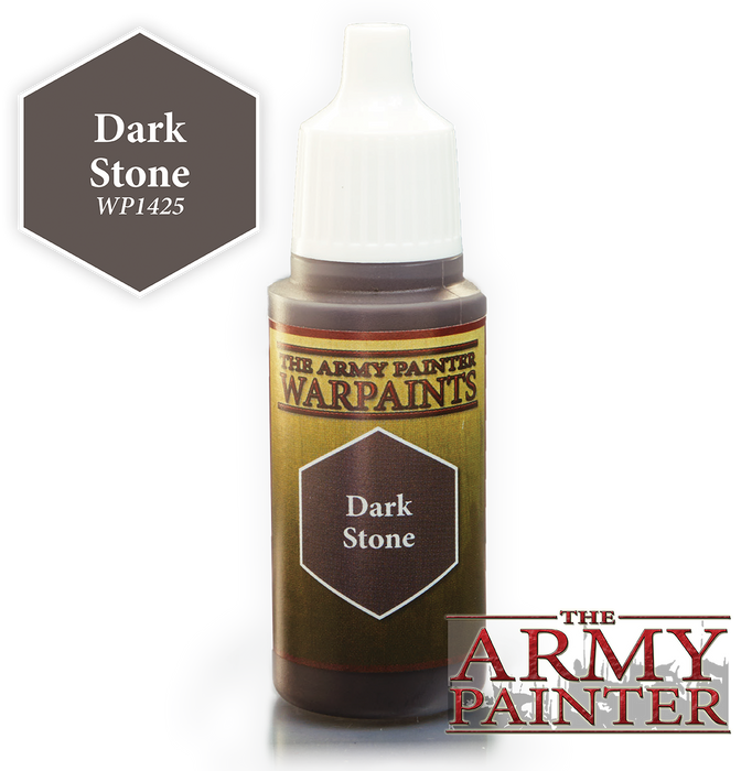 The Army Painter Acrylic Warpaints: Dark Stone 18mL Eyedropper Paint Bottle