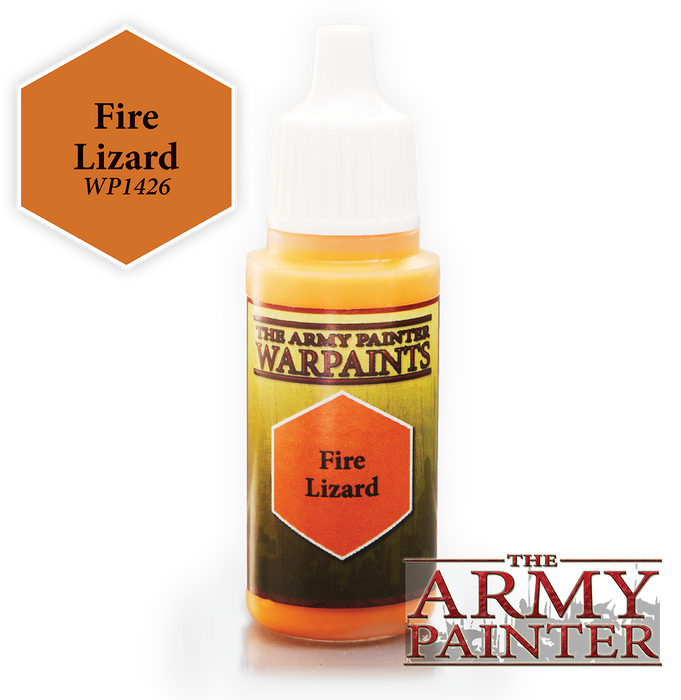 The Army Painter Acrylic Warpaints: Fire Lizard 18mL Eyedropper Paint Bottle