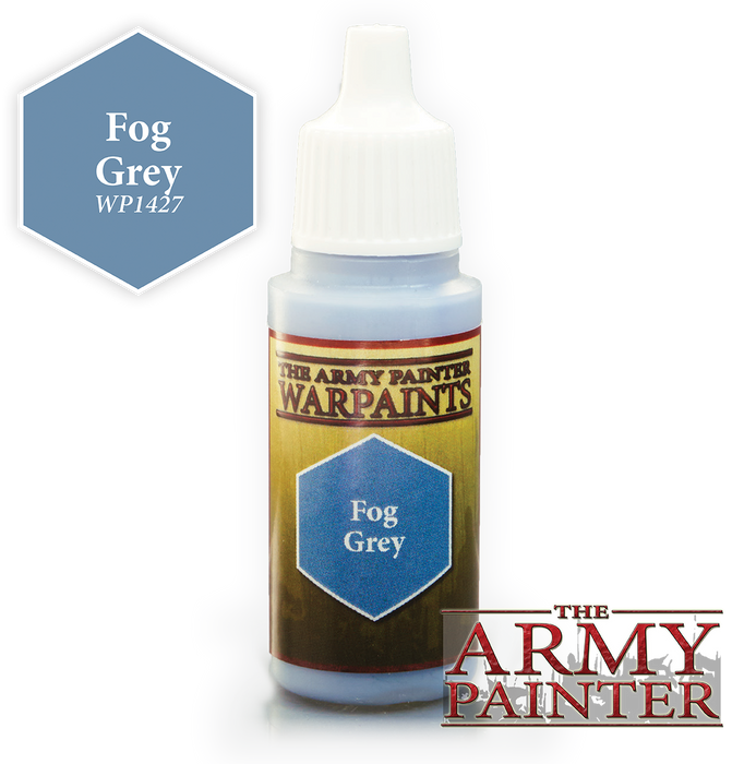 The Army Painter Acrylic Warpaints: Fog Grey 18mL Eyedropper Paint Bottle