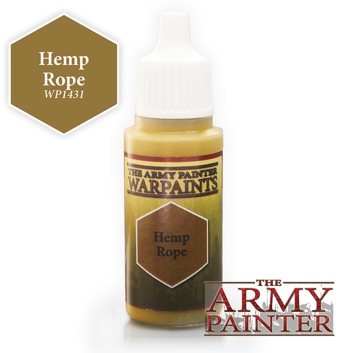 The Army Painter Acrylic Warpaints: Hemp Rope 18mL Eyedropper Paint Bottle