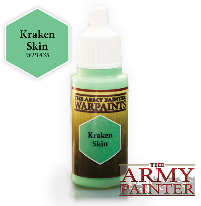 The Army Painter Acrylic Warpaints: Kraken Skin 18mL Eyedropper Paint Bottle