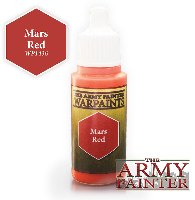 The Army Painter Acrylic Warpaints: Mars Red 18mL Eyedropper Paint Bottle