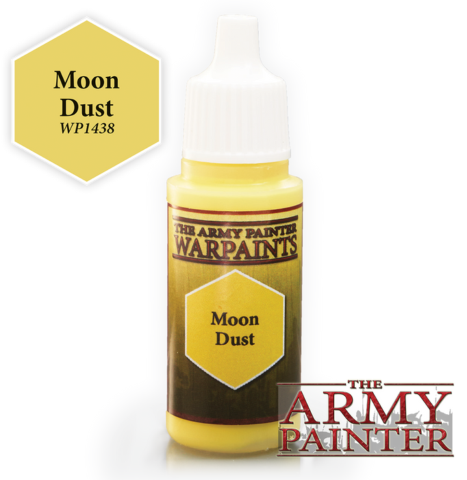 The Army Painter Acrylic Warpaints: Moon Dust 18mL Eyedropper Paint Bottle
