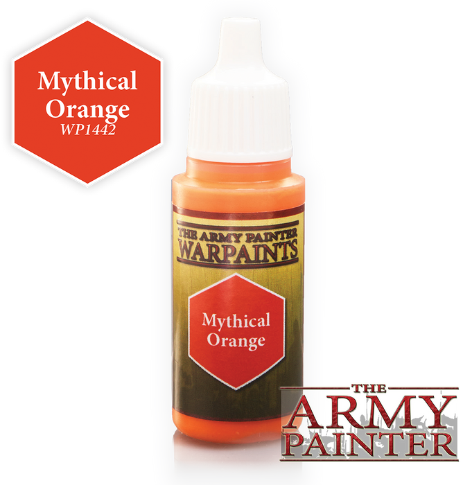 The Army Painter Acrylic Warpaints: Mythical Orange 18mL Eyedropper Paint Bottle