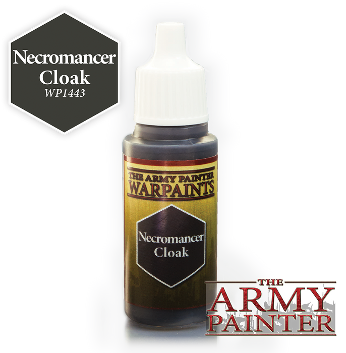 Army Painter Acrylic Warpaints: Necromancer Cloak 18mL Eyedropper Paint Bottle
