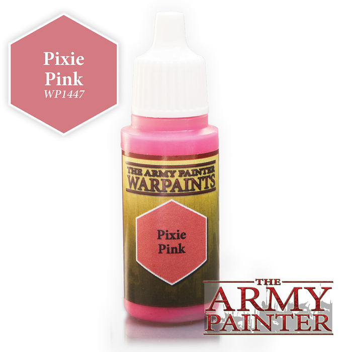 The Army Painter Acrylic Warpaints: Pixie Pink 18mL Eyedropper Paint Bottle
