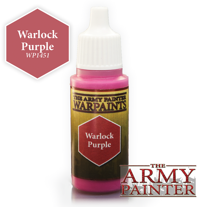 The Army Painter Acrylic Warpaints: Warlock Purple 18mL Eyedropper Paint Bottle