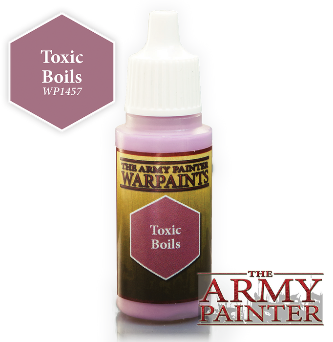 The Army Painter Acrylic Warpaints: Toxic Boils 18mL Eyedropper Paint Bottle