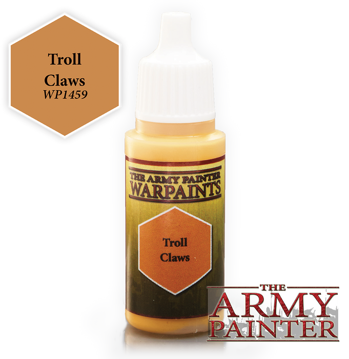 The Army Painter Acrylic Warpaints: Troll Claws 18mL Eyedropper Paint Bottle