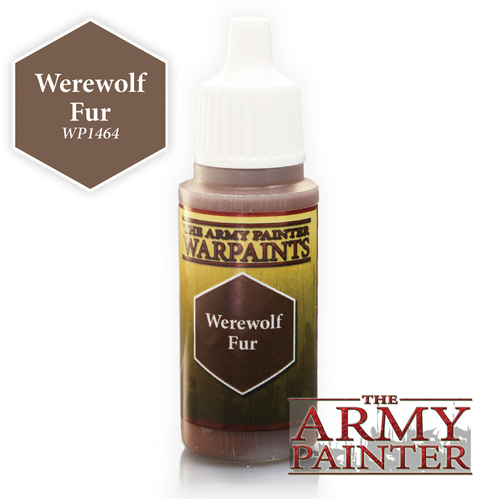 The Army Painter Acrylic Warpaints: Werewolf Fur 18mL Eyedropper Paint Bottle