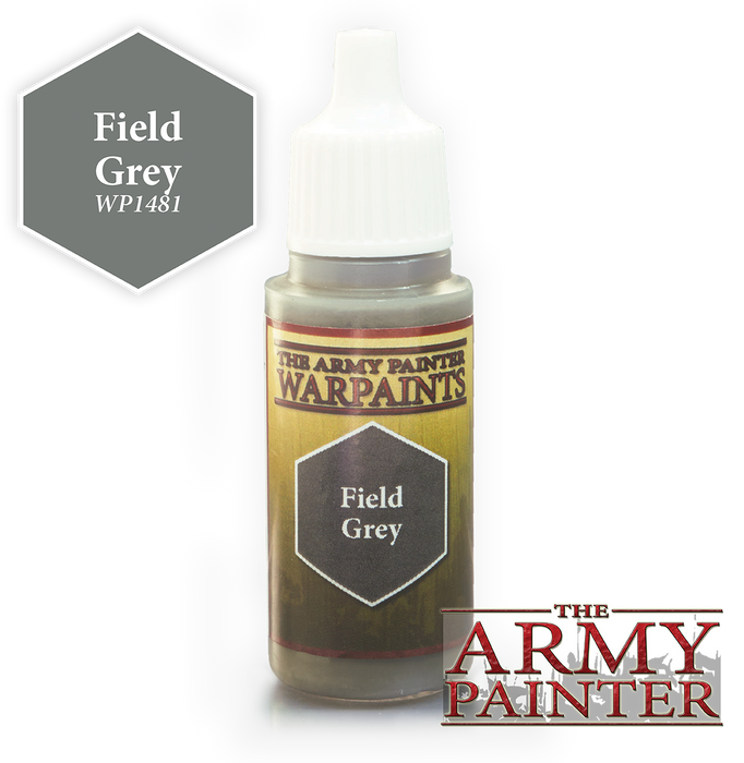 The Army Painter Acrylic Warpaints: Field Grey 18mL Eyedropper Paint Bottle