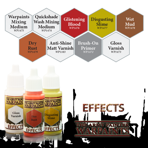 The Army Painter Effect Warpaints 18mL Paint in Eyedropper Bottle