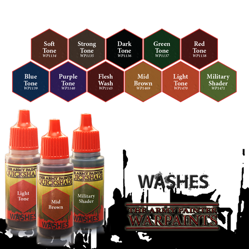 The Army Painter Washes Warpaints Quickshade Paint Wash: 18mL Eyedropper Bottle