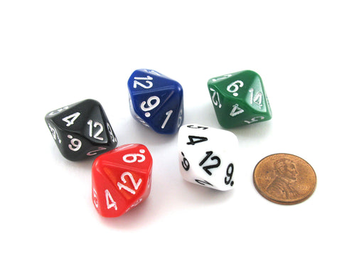 D14 The Dice Lab Die, 1 piece or assortment - Choose Your Color