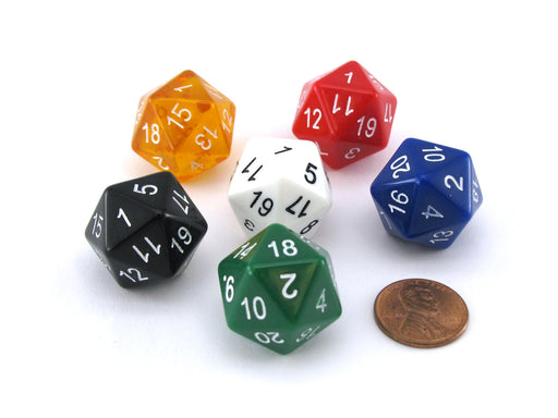 The Dice Lab Numerically-Balanced OptiDice D20, 1 Piece or Assortment