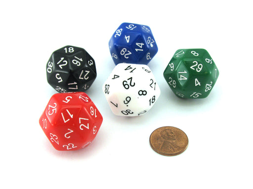 The Dice Lab Numerically-Balanced D30, 1 Piece or Assortment - Choose Your Color