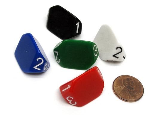 The Dice Lab Unique Individual D3 Die, 1 Piece or Assortment - Choose Your Color