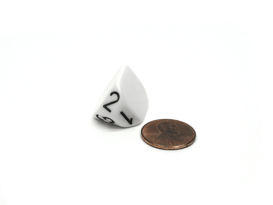 The Dice Lab Unique Individual D3 Die - White