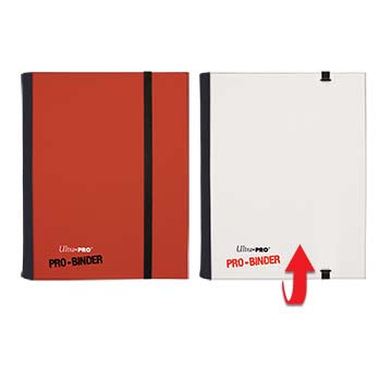 Ultra Pro Pro-Binder: 4-Pocket Flip Red and White for Up to 160 cards