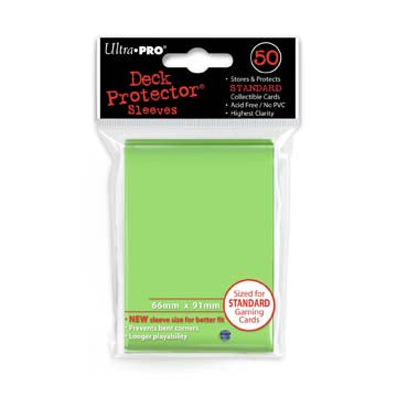 Ultra Pro Standard Size Deck Protector Sleeves: Light Green 50ct