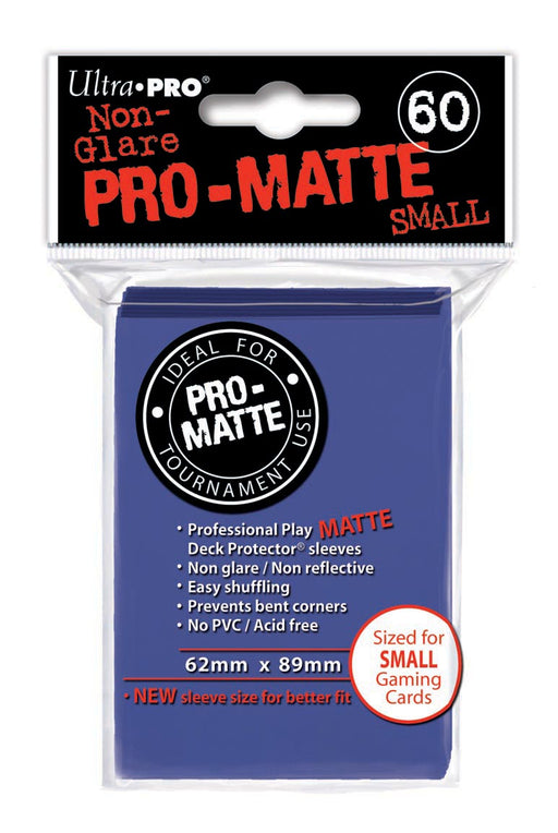 Ultra Pro Pro-Matte Small Size Deck Protector Sleeves 62mm x 89mm: Blue 60ct