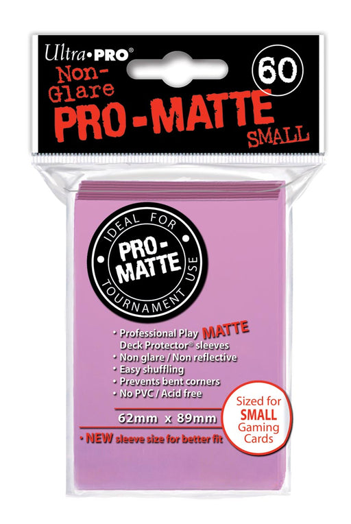 Ultra Pro Pro-Matte Small Size Deck Protector Sleeves 62mm x 89mm: Pink 60ct