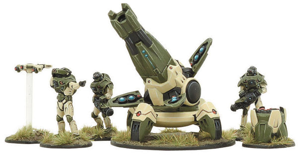 Warlord Gates of Antares C3 Support Team w X-Howitzer WGA-CON-06 Unpainted Metal