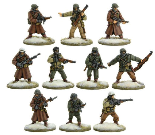 Warlord Games Bolt Action US Army Veterans Squad Winter 402213002 Unpainted Mini