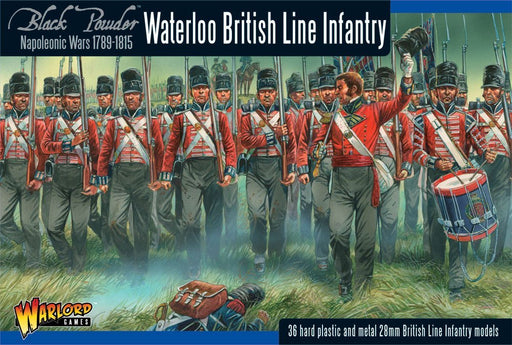 Warlord Black Powder Napoleonic British Infantry Waterloo, 36 Pc Unpainted Minis