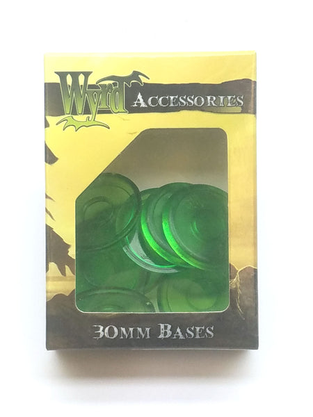 Wyrd Miniatures Malifaux - Green Translucent Bases 30mm (10 Pieces)