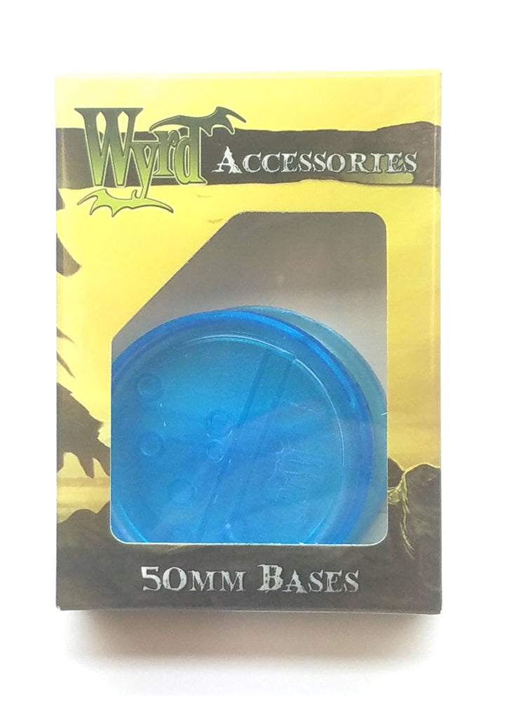 Wyrd Miniatures Malifaux - Blue Translucent Bases 50mm (3 Pieces)