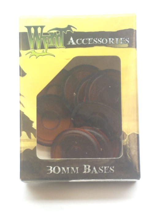 Wyrd Miniatures Malifaux - Root Beer Translucent Bases 30mm (10 Pieces)