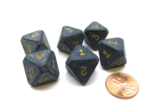 Opaque Dark Blue Chessex 8-Sided Die Numbered 1-4 Twice, 6 Dice