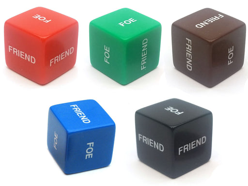 Single 'Friend or Foe' 16mm D6 Chessex Dice - Choose Your Color