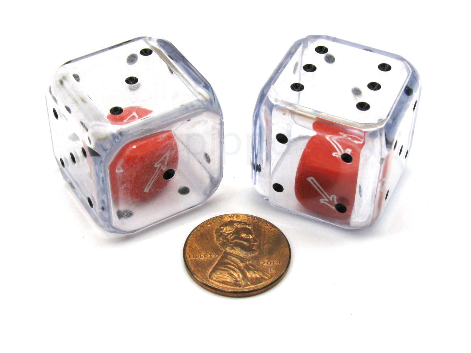 Pack of 2 Directional Double D6 Chessex Dice