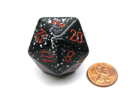 34mm Large 20-Sided D20 Speckled Chessex Dice, 1 Die - Space