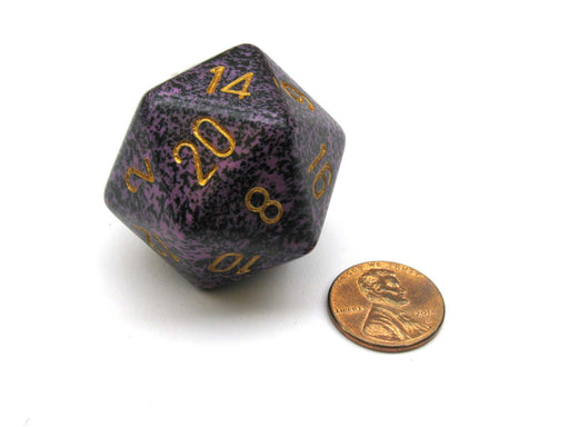 34mm Large D20 Speckled Chessex Dice, 1 Die - Hurricane