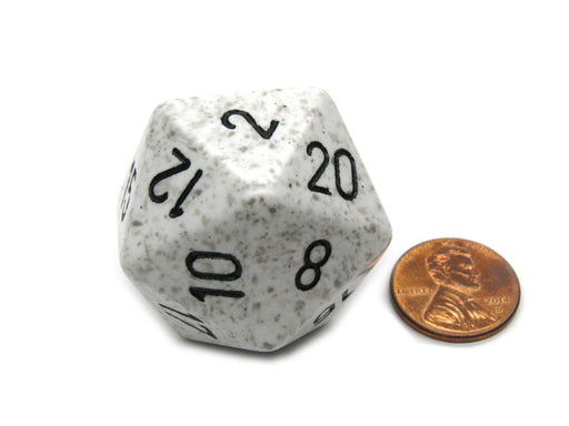 34mm Large 20-Sided D20 Speckled Chessex Dice, 1 Die - Arctic Camo