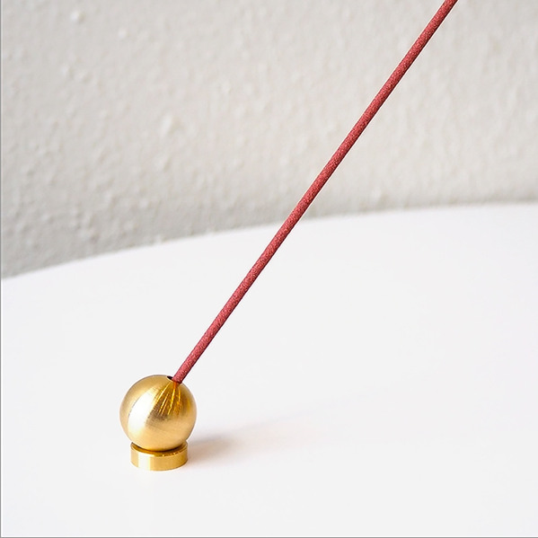 Ball Incense Holder - Brass-Hakuhodo Sumitani Saburo-The Fjord Store