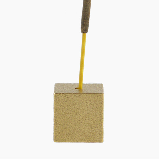 Cube Incense Holder - Brass-Hakuhodo Sumitani Saburo-The Fjord Store