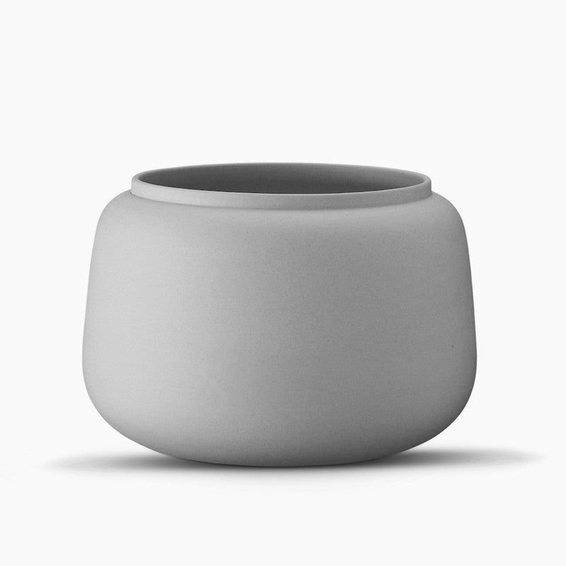 Ditte Fischer Classic Vase, Wide-Grey-The Fjord Store