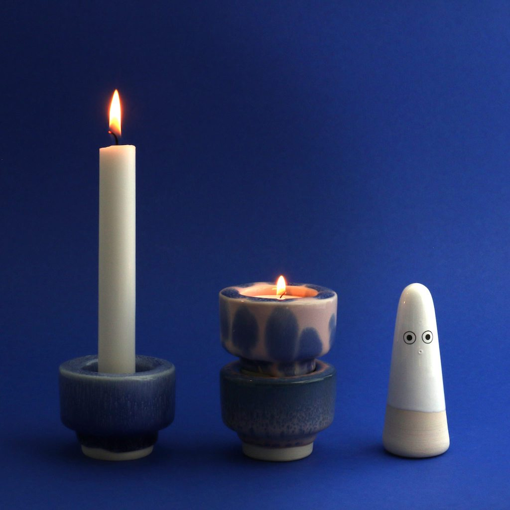Glow Candle Holder - Ultramarine-Studio Arhoj-The Fjord Store