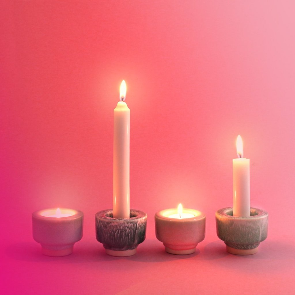 Glow Candle Holder - Red Raspberry Sorbet-Studio Arhoj-The Fjord Store
