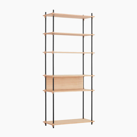 Shelving System, Low - Black