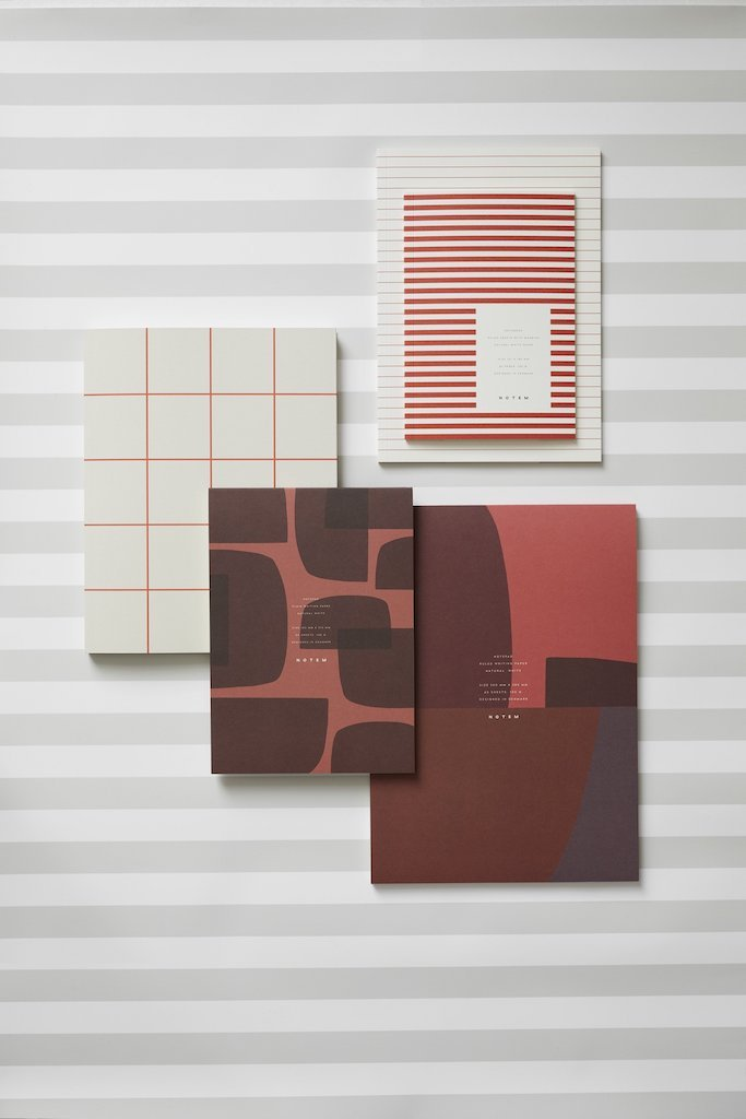 JO Notepad-Red-Shapes-NOTEM-The Fjord Store